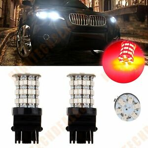Auto High Power 3157 Cree Led 60 Smd Us Drl Red Color Car Bulb Light 40w