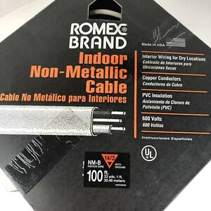 Romex Indoor Non metallic Electrical Wire Nm b 14 3 100ft
