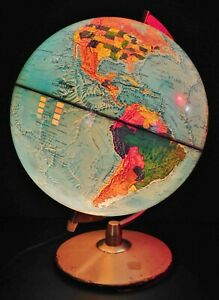 Vintage 1978 Light Up Hammond 12 Inch Scab Globe Ussr