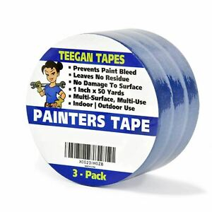 Painters Tape 3 pack 1 Inch X 50 Yards