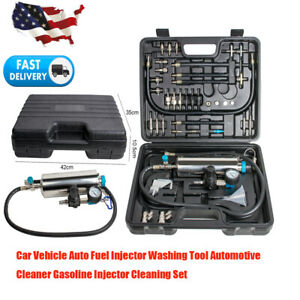 Car Vehicle Auto Petrol Gasoline Fuel Injector Washing Cleaner Cleaning Tool Kit