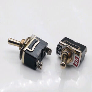 Heavy Duty On Off Small Spst Toggle Switch Miniature Waterproof Cover 15a