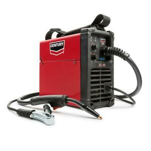 Portable 90 Amp Flux Core Wire Feed Welder And Gun 120v Automatic Cooling