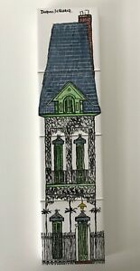 1972 Jacques Declercq Art Tiles Hand Painted Signed New Orleans De Clercq