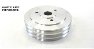 Chevy 396 454 Bbc Aluminum Swp Crank Pulley 3 Groove Polished Sharp