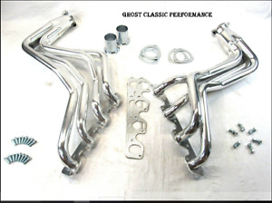 Ford Truck Bronco F 150 351c 351m 400 Long Tube Header Ceramic W Hardware