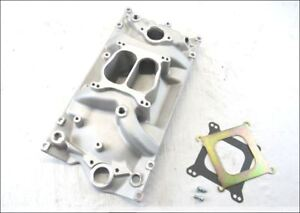 Small Block Chevy 350 Holeshot Vortec Aluminum Intake Manifold Satin Finish