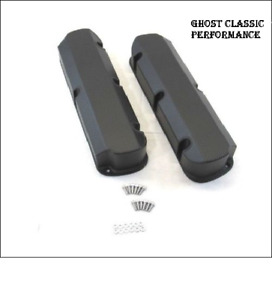 Ford 5 0l 302 289 351w Fabricated Tall Aluminum Valve Covers Black Coated Sharp