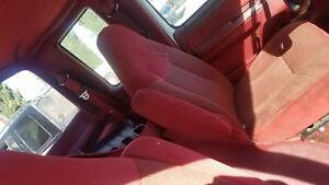 Front Bucket Seats Ford F250 92 Left And Right Ruby Red Cloth With Elec Lumbar