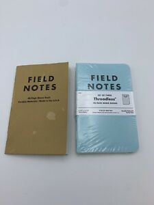 Field Notes Threadless Blue Green Tan Factory Defect Extremely Rare