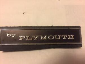 By Plymouth Emblem Nos