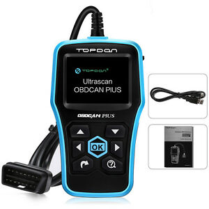 Topdon Plus Obd2 Can Obdii Auto Car Code Reader Diagnostic Scanner Tool Engine