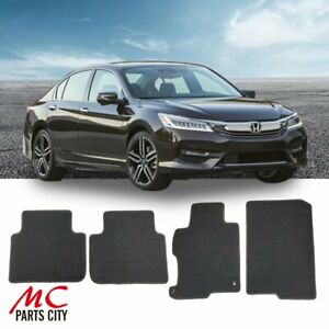 For 2013 2017 Honda Accord 4d Black Custom Fit Carpet Floor Mats Front Rear 4pcs
