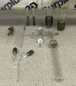 Lot Of Laboratory Glassware Assorted Pieces 1