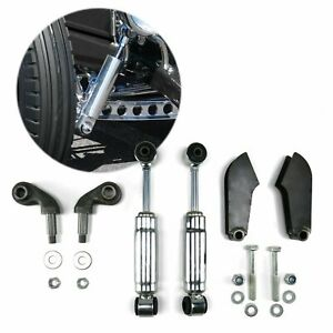 Universal 46 Solid Axle Chrome Shock Kit Parts Suspension Front