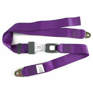 2pt Plum Lap Seat Belt Standard Buckle Each Line Out Painless 350 Street Rod