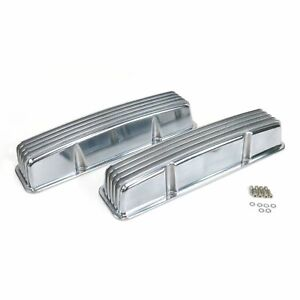 Vintage Tall Finned Valve Covers W O Breather Holes Small Block Chevy Vpa