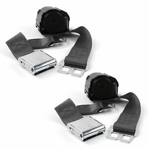 Dodge Charger 1971 1974 Airplane 2pt Ch Retract Bucket Seat Belt Kit 2 Belts