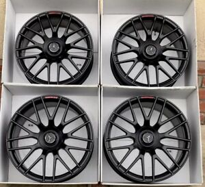 19 20 Mercedes Amg C63 S Coupe Rims Wheels Rims Original Factory Oem Black