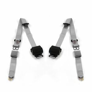 Ford Mustang 1979 1993v Airplane 3pt G g Retract Bucket Seat Belt Kit 2 Belts