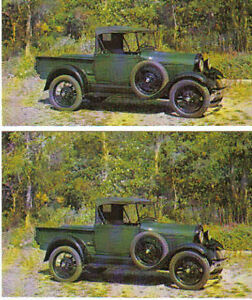 1928 Ford Model A Pickup Truck Postcard Lot Of 2 Must See