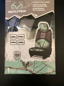 1 Pack Realtree Lowback Car Seat Cover Headrest Cover Mint Green Camo