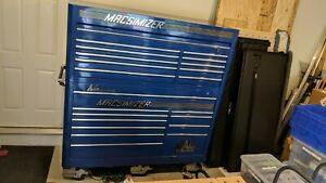 Mac Macsimizer Bottom And Top Toolbox Mb1300 1350 Blue Double Row Drawers