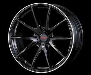 Rays Volkracing G25 19x8 5j 35 Black Clear Set Of 4 For Lexus Is From Japan