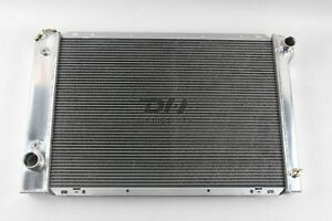 Polished 3row Aluminum Radiator Fit 1980 1984 Ford F150 F250 F350 Bronco V8 19 H