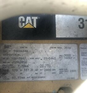 Caterpillar 3116 Engine Core Parts Only