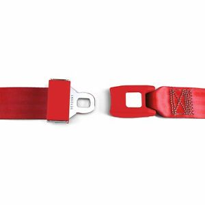 2pt Red Lap Seat Belt Standard Buckle Each Saftboy Stbsb2lsrd Hot Street Rod