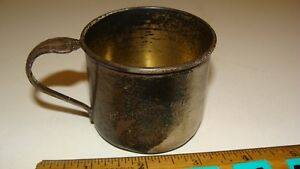 Antique Vintage Sterling Silver Baby Child S Cup
