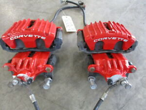 2003 Z06 Corvette Complete Red Brake Calipers 29 500 Miles C5 Ls6 Ls1 97 04