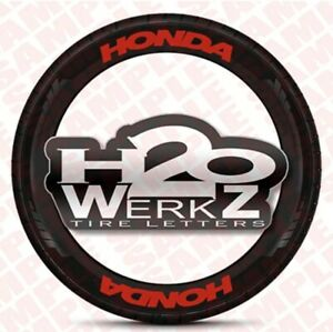 Tire Letters Honda 0 75 Red Permanent high Quality Sale