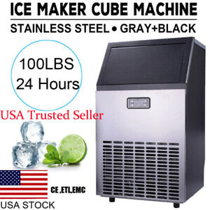 Stainless Steel Commercial Ice Maker Cube Undercounter Machine Bar With Flaw