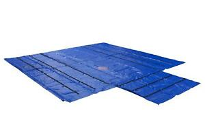 Blue Superlight 14oz Flatbed Trailer Lumber Steel Tarp 24x27 8 Drop