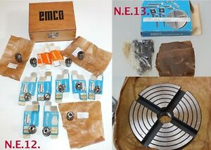 Nos Emco Unimat 3 Accessories Lathe Collets Mixed 12pcs Clamping Plate Choose1
