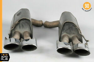 03 06 Mercedes W220 S55 S65 Cl65 Amg Exhaust Muffler Quad Tips Left And Right