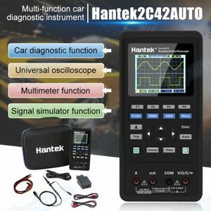 Us Stock Hantek 2 Channel 2in1 Handheld Oscilloscope 2c42 Dmm Multimeter Tester