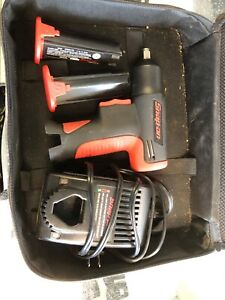 Snap on Tools Ct561 7 2v 3 8 Impact Wrench Complete 2 Batt Case Manual Charger
