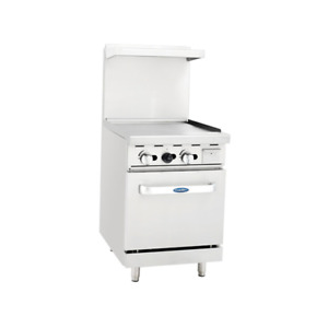 Atosa 24 Gas Range With Wide Griddle