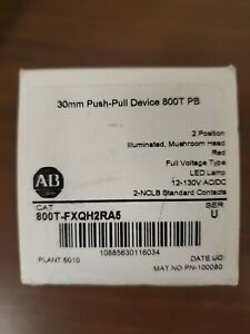 new Allen bradley 800t fxqh2ra5 Red Led Push pull 2 Position Button 30mm