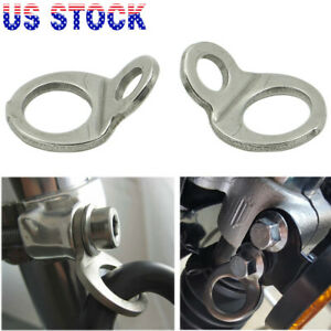 2x Motorcycle Tie Down Tie Down Strap Rings For Dirt Bike Replace 3920 0341 Us
