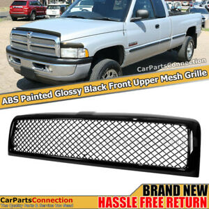 Black Honeycomb Diamond Mesh Front Upper Bumper Grill For 1994 2001 Dodge Ram