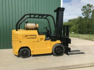 20000 Yale Lp Gas Cushion Tire Forklift With Side Shift rare