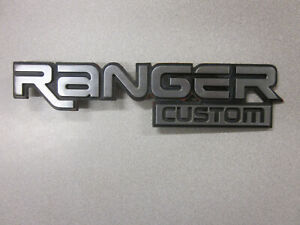 Ford Ranger Custom Badge Emblem Says ranger Custom Good Condition
