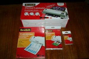 Scotch Thermal Laminator Tl901 W Laminating Pouches 100 8 5x11 20 5x7