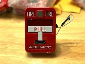Ademco 5140mps 2 Fire Alarm Pull Station Metal T bar