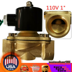 1 Inch Electric Solenoid Valve Normally Closed Npt 2 way For Air Water Fuel Gas