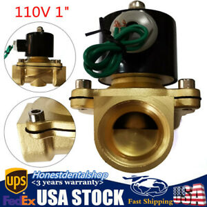 1 Electric Solenoid Valve Switch Water Air Gas Fuel N c Npt 110v 115v 120v New